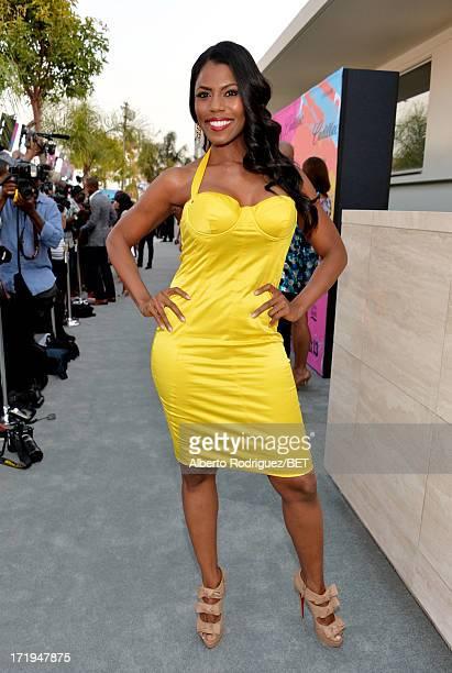 Television personality Omarosa Manigault attends Debra Lee's PreBET Awards Celebration Dinner at Milk Studios on June 29 2013 in Los Angeles...