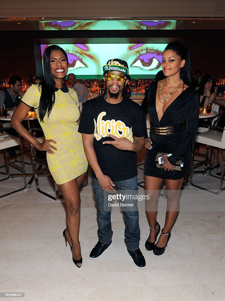 Television personality Omarosa Manigault, recording artist Lil' Jon and television personality Claudia Jordan appear at Andrea's at Encore Las Vegas to celebrate the season premiere of 'All-Star Celebrity Apprentice' on March 2, 2013 in Las Vegas, Nevada.