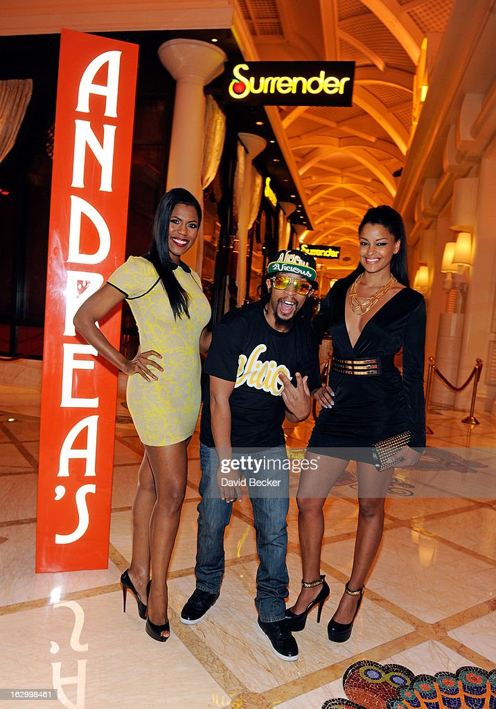 Television personality Omarosa Manigault, recording artist Lil' Jon and television personality <a gi-track='captionPersonalityLinkClicked' href=/galleries/search?phrase=Claudia+Jordan&family=editorial&specificpeople=702294 ng-click='$event.stopPropagation()'>Claudia Jordan</a> arrive at Andrea's at Encore Las Vegas to celebrate the season premiere of 'All-Star Celebrity Apprentice' on March 2, 2013 in Las Vegas, Nevada.