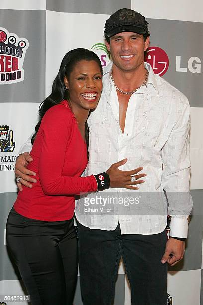 Television personality Omarosa ManigaultStallworth and former Major League Baseball player Jose Canseco arrive at the LG AllStar Poker Showdown and...