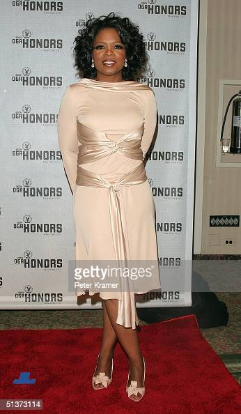 Television personality Oprah Winfrey poses backstage at the 5th Annual Directors Guild Of America Honors at the Waldorf Astoria Hotel September 29...