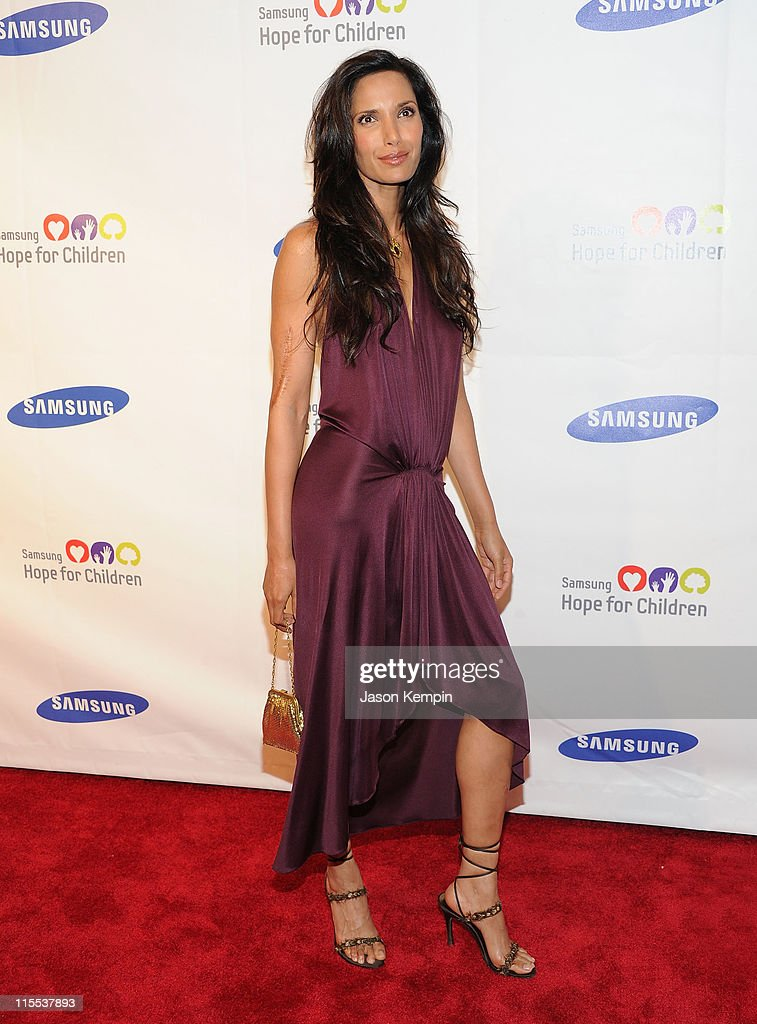 Television personality Padma Lakshmi attends the Samsung Hope for Children gala at Cipriani Wall Street on June 7, 2011 in New York City.