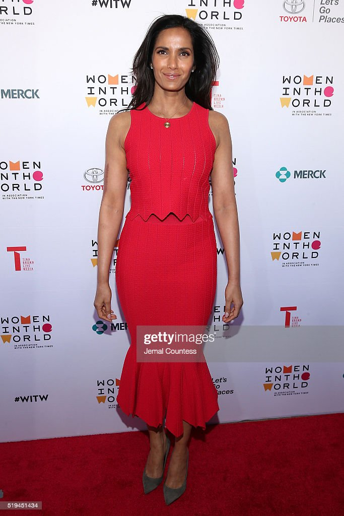 Television personality Padma Lakshmi attends Tina Brown's 7th Annual Women In The World Summit Opening Night at David H. Koch Theater at Lincoln Center on April 6, 2016 in New York City.