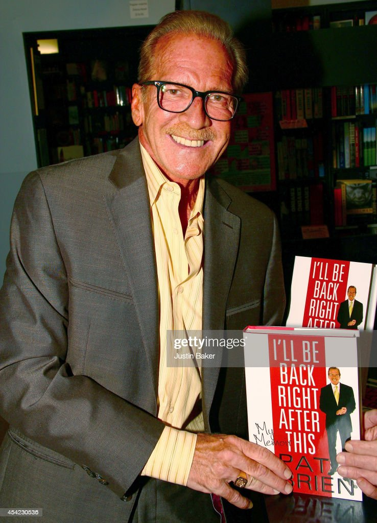 Television Personality Pat O'Brien Signs Copies Of His New Book 'I'll Be Back Right After This' at Book Soup on August 26 2014 in West Hollywood...