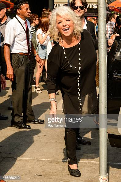 Television personality Paula Deen leaves the 'Good Morning America' taping at the ABC Times Square Studios on September 2 2015 in New York City