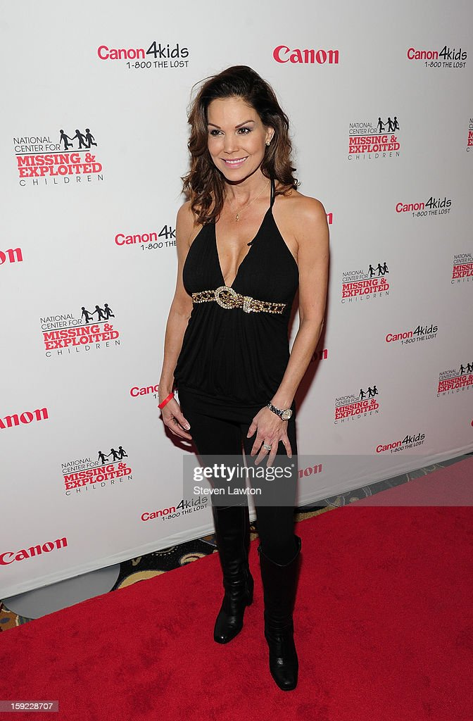 Television personality Paula Trickey arrives for the 14th annual Canon Customer Appreciation Reception at the Bellagio on January 9 2013 in Las Vegas...