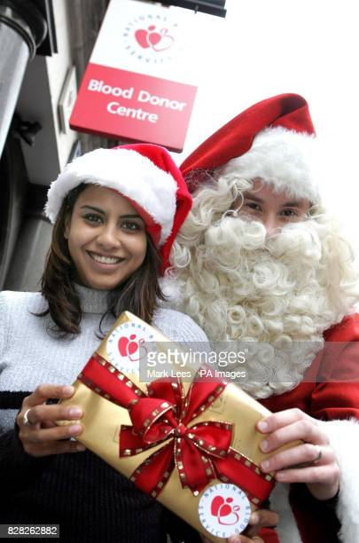 Television personality Pooja Shah launches an appeal with the aid of Santa by the National Blood service to encourage members of the public to donate...