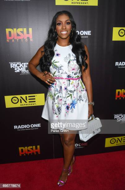 Television personality Porsha Williams attends 'Rickey Smiley For Real' Season 4 Premiere at Regal Atlantic Station on June 13 2017 in Atlanta Georgia