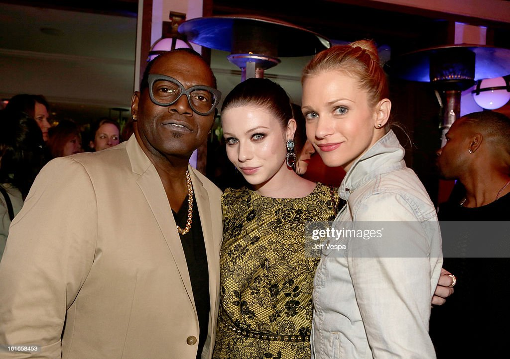 Television personality Randy Jackson, actress Michelle Trachtenberg and actress A.J. Cook attend the Topshop Topman LA Opening Party at Cecconi's West Hollywood on February 13, 2013 in Los Angeles, California.