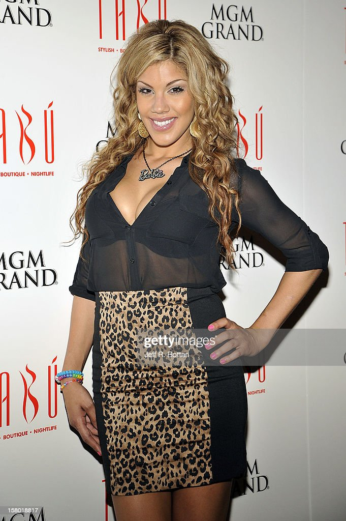 Television personality Raquel Santiago arrives at the Tabu Ultra Lounge at the MGM Grand Hotel/Casino on December 9, 2012 in Las Vegas, Nevada.