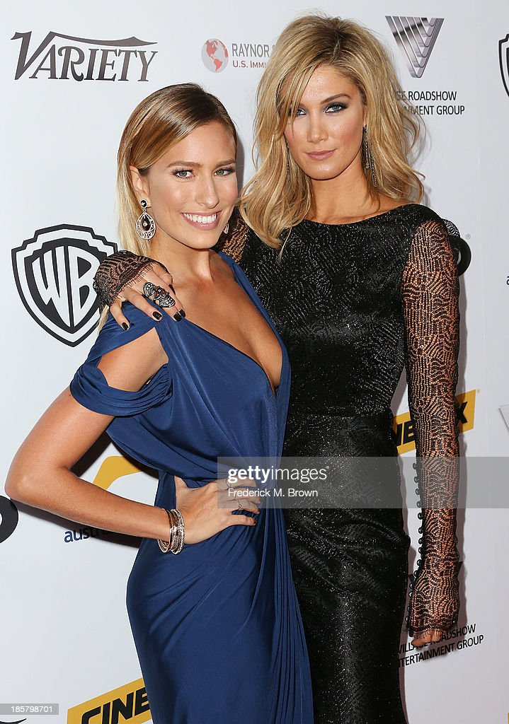 Television personality <a gi-track='captionPersonalityLinkClicked' href=/galleries/search?phrase=Renee+Bargh&family=editorial&specificpeople=4267341 ng-click='$event.stopPropagation()'>Renee Bargh</a> (L) and singer <a gi-track='captionPersonalityLinkClicked' href=/galleries/search?phrase=Delta+Goodrem&family=editorial&specificpeople=201895 ng-click='$event.stopPropagation()'>Delta Goodrem</a> attends the Australians in Film Benefit Dinner at the at Intercontinental Hotel on October 24, 2013 in Beverly Hills, California.