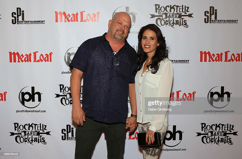 Television personality <a gi-track='captionPersonalityLinkClicked' href=/galleries/search?phrase=Rick+Harrison&family=editorial&specificpeople=6584951 ng-click='$event.stopPropagation()'>Rick Harrison</a> (L) and his wife, Deanna Burditt arrive at the show 'RockTellz & CockTails presents Meat Loaf' at Planet Hollywood Resort & Casino on October 3, 2013 in Las Vegas, Nevada.