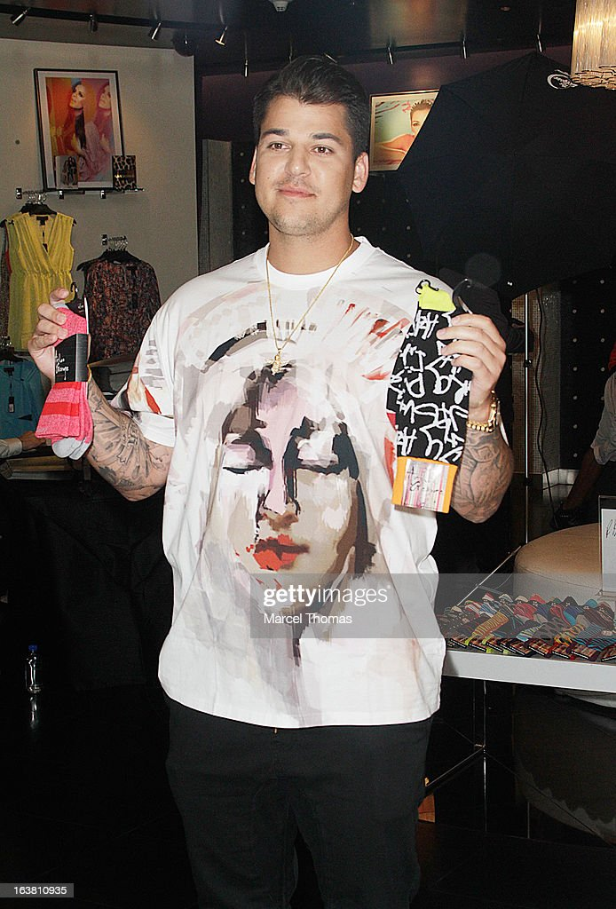 Television personality Rob Kardashian makes an appearance at the Kardashian Khaos store at the Mirage Hotel and Casino on March 16, 2013 in Las Vegas, Nevada.