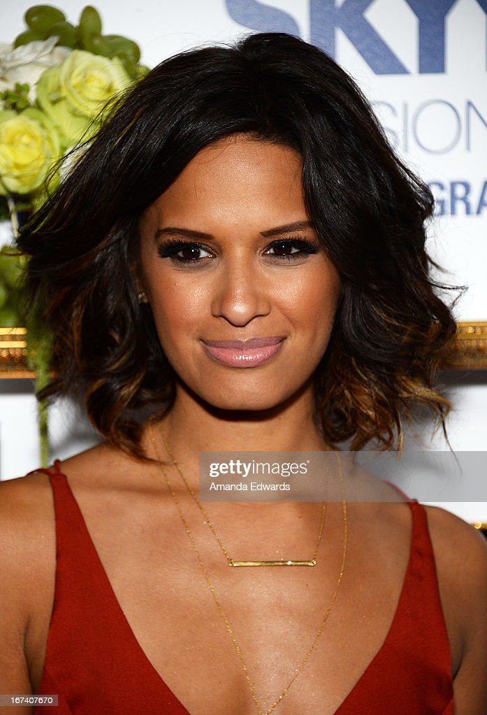 Television personality <a gi-track='captionPersonalityLinkClicked' href=/galleries/search?phrase=Rocsi&family=editorial&specificpeople=747177 ng-click='$event.stopPropagation()'>Rocsi</a> Diaz arrives at the debut of The House of Moscato launch party for the new SKYY Infusions Moscato Grape Vodka at Greystone Manor Supperclub on April 24, 2013 in West Hollywood, California.