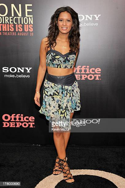 Television personality Rocsi Diaz attends the New York premiere of 'One Direction This Is Us' at the Ziegfeld Theater on August 26 2013 in New York...