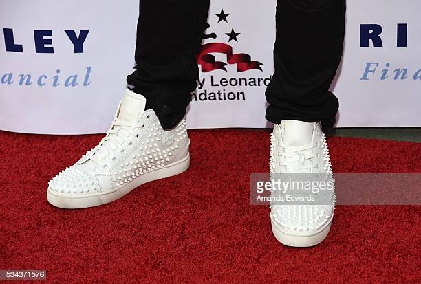 Television personality Ronnie Magro shoe detail arrives at the 7th Annual Big Fighters Big Cause Charity Boxing Night Benefiting The Sugar Ray...