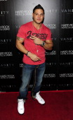 Television personality Ronnie OrtizMagro from 'Jersey Shore' arrives to host an evening at Vanity Nightclub At The Hard Rock Hotel And Casino on...