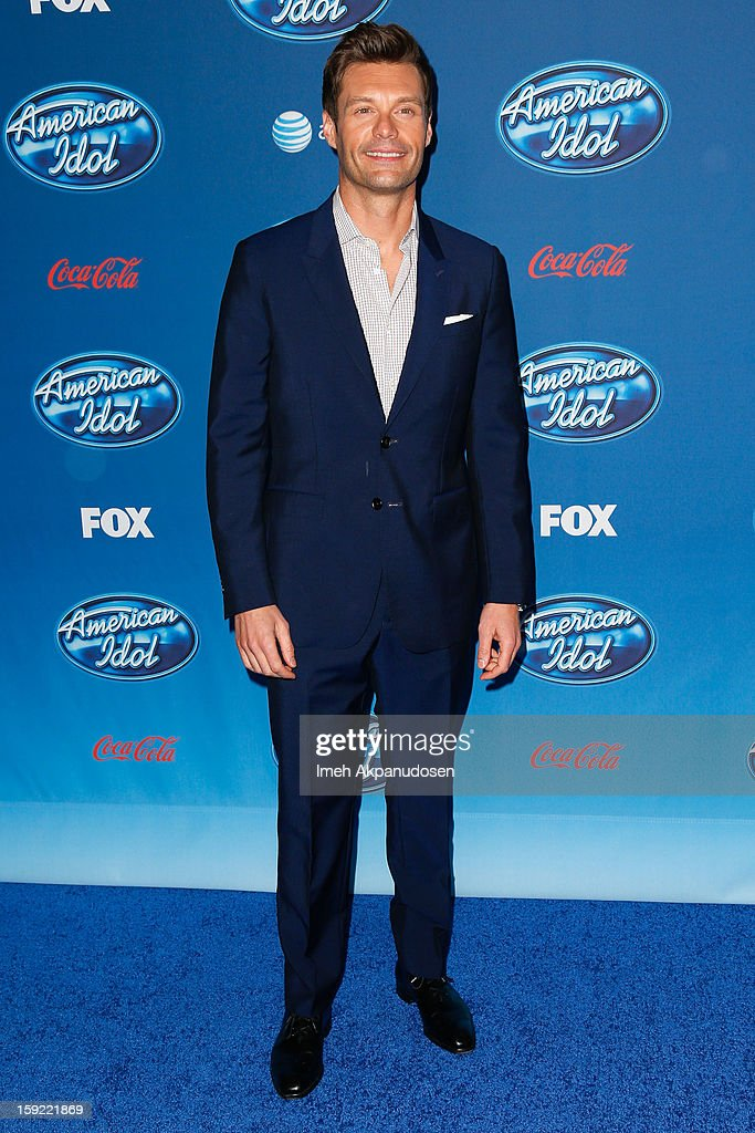 Television personality Ryan Seacrest attends the season premiere screening of Fox's 'American Idol' at Royce Hall, UCLA on January 9, 2013 in Westwood, California.