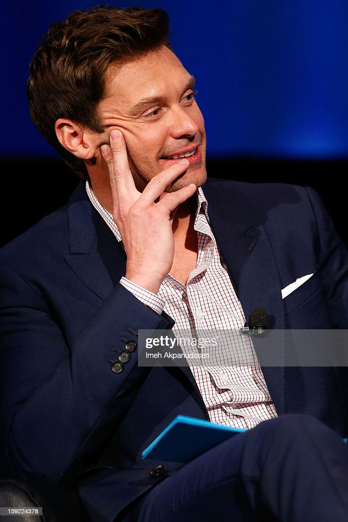 Television personality Ryan Seacrest speaks during a live Q&A during the season premiere screening of Fox's 'American Idol' at Royce Hall, UCLA on January 9, 2013 in Westwood, California.
