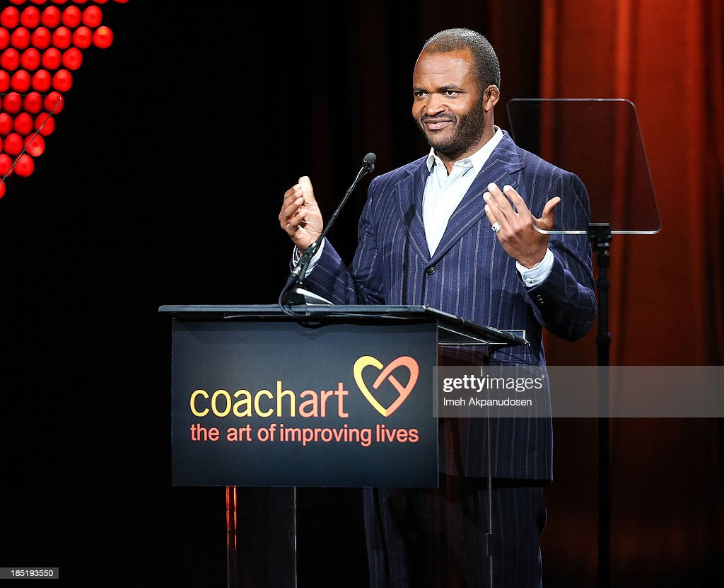 Television personality Sal Masekela speaks onstage during CoachArt's 9th Annual 'Gala Of Champions' at The Beverly Hilton Hotel on October 17, 2013 in Beverly Hills, California.