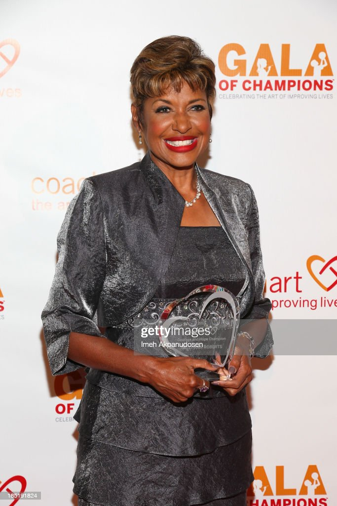 Television personality Sally-Ann Roberts attends CoachArt's 9th Annual 'Gala Of Champions' at The Beverly Hilton Hotel on October 17, 2013 in Beverly Hills, California.