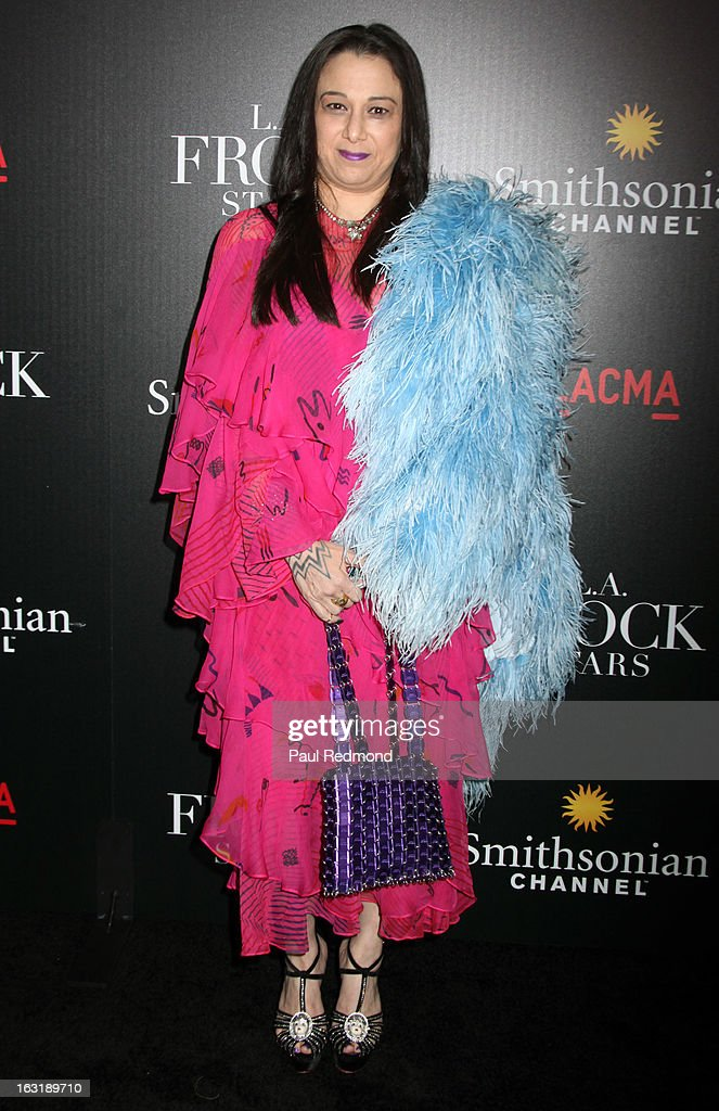 Television personality Sarah Bergman arrives at 'L.A.Frock Stars' - Los Angeles Screening at LACMA on March 5, 2013 in Los Angeles, California.