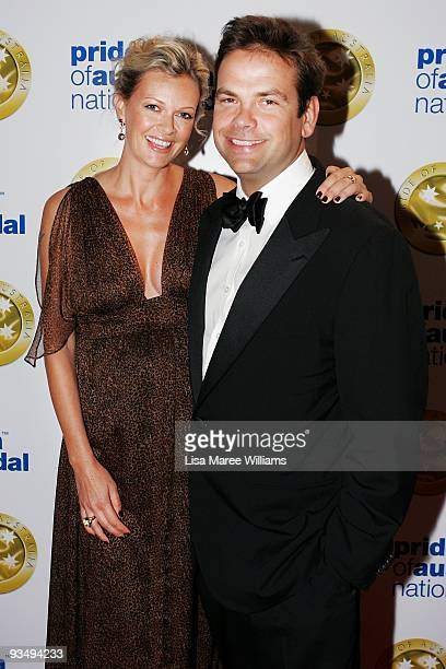 Television personality Sarah Murdoch and husband Lachlan Murdoch arrive for the Pride of Australia National Medal 2009 ceremony at the Westin Hotel...