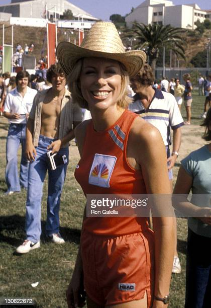 Television Personality Sarah Purcell attends the taping of 'Battle Of The Network Stars' on October 6 1979 at Pepperdine University in Malibu...