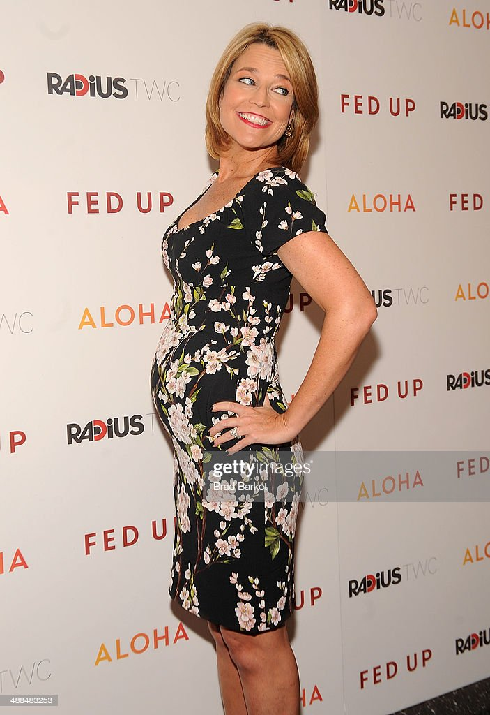 Television personality <a gi-track='captionPersonalityLinkClicked' href=/galleries/search?phrase=Savannah+Guthrie&family=editorial&specificpeople=653313 ng-click='$event.stopPropagation()'>Savannah Guthrie</a> attends 'Fed Up' premiere at Museum of Modern Art on May 6, 2014 in New York City.