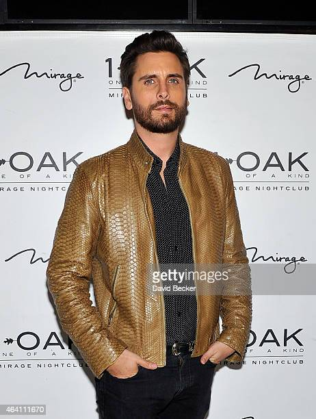 Television personality Scott Disick arrives at 1 OAK Nightclub at The Mirage Hotel Casino on February 21 2015 in Las Vegas Nevada
