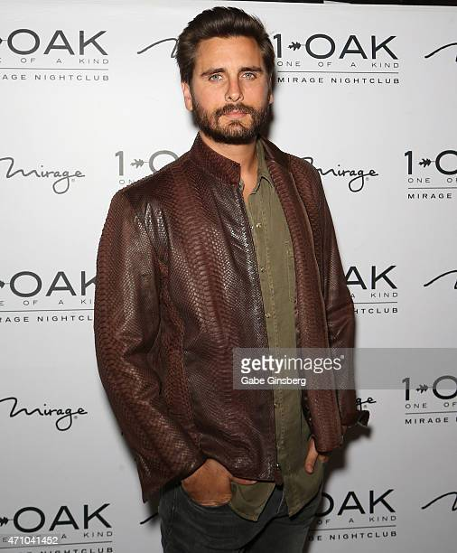 Television personality Scott Disick arrives at 1 OAK Nightclub at The Mirage Hotel Casino on April 24 2015 in Las Vegas Nevada