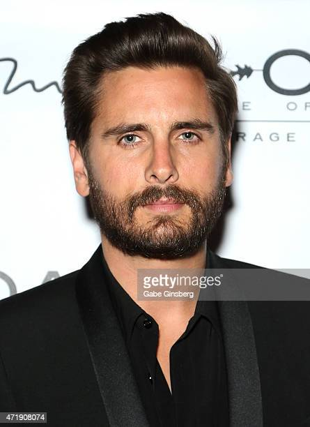 Television personality Scott Disick arrives at 1 OAK Nightclub at The Mirage Hotel and Casino to host Las Vegas fight weekend on May 1 2015 in Las...