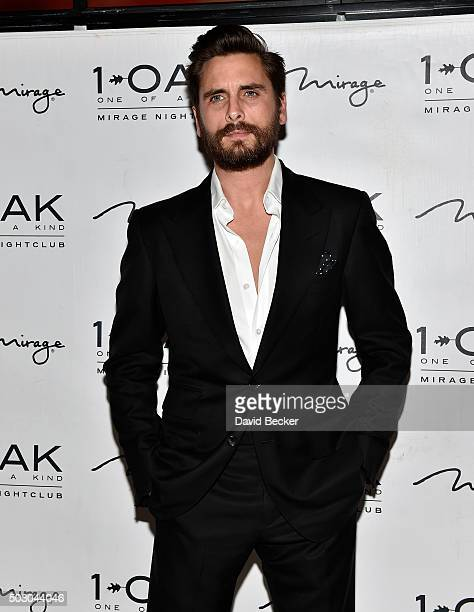 Television personality Scott Disick arrives at 1 OAK Nightclub at The Mirage Hotel Casino to host a New Year's Eve celebration on December 31 2015 in...