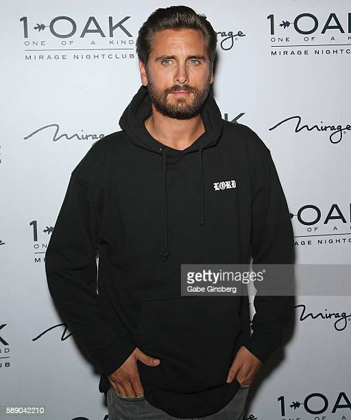 Television personality Scott Disick arrives at 1 OAK Nightclub at The Mirage Hotel Casino on August 13 2016 in Las Vegas Nevada