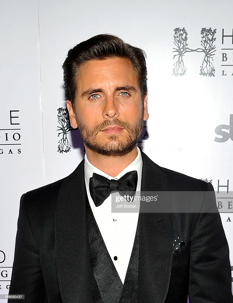 Television personality Scott Disick arrives to celebrate his 30th birthday at Hyde Bellagio at the Bellagio over Memorial Day weekend on May 26, 2013 in Las Vegas, Nevada.
