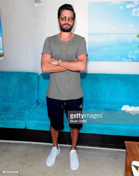 Television personality Scott Disick hosts a pool party at the LIQUID Pool Lounge at the Aria Resort Casino on July 22 2017 in Las Vegas Nevada