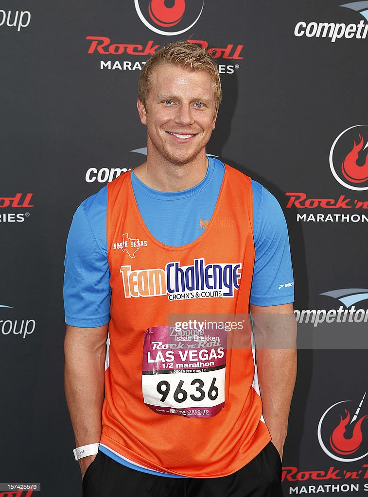 Television personality Sean Lowe arrives at the Zappos.com Rock 'n' Roll Las Vegas Marathon on December 2, 2012 in Las Vegas, Nevada.