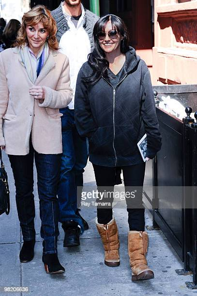 Television personality Shannon Doherty and Shirley Ballas walk in Midtown Manhattan on April 01 2010 in New York City