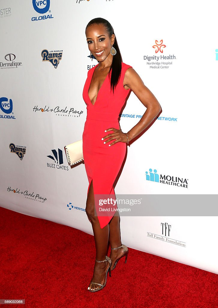 Television personality Shaun Robinson attends 16th Annual Harold and Carole Pump Foundation Gala at The Beverly Hilton Hotel on August 12, 2016 in Beverly Hills, California.