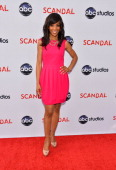 Television personality Shawn Robinson arrives at the Season 2 finale screening of 'Scandal' hosted by The Academy of Television Arts Sciences at the...