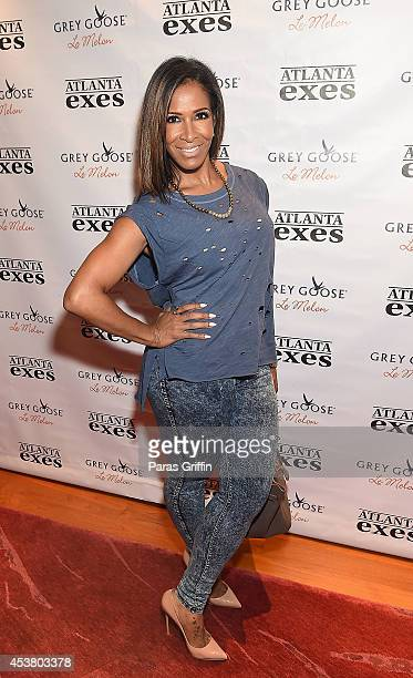 Television personality Sheree Whitfield attends the Atlanta Exes Private Premiere Viewing Party at 10 Terminus Place on August 18 2014 in Atlanta...