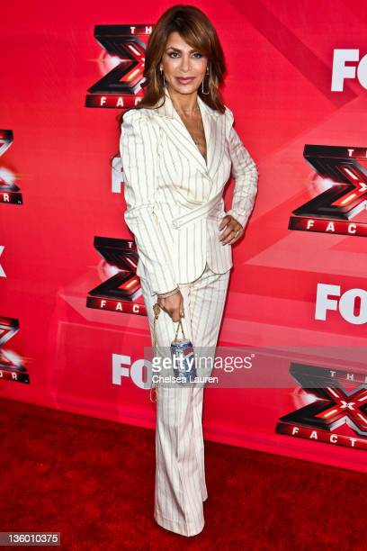 Television personality / singer Paula Abdul arrives at 'The X Factor' press conference at CBS Television City on December 19 2011 in Los Angeles...