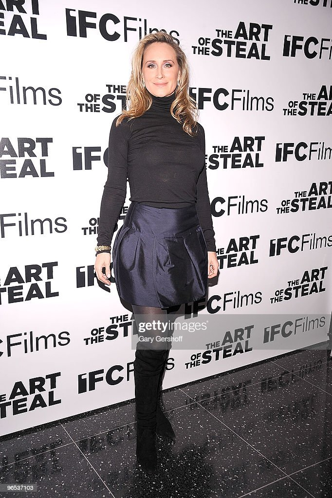 Television personality Sonja Morgan attends the 'The Art of The Steal' New York premiere at MOMA on February 9 2010 in New York City