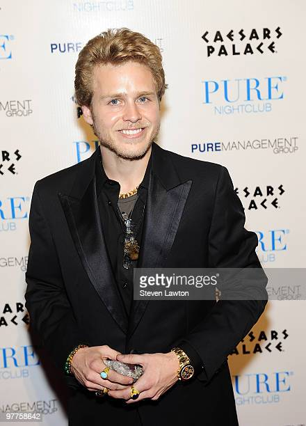 Television personality Spencer Pratt arrives to host Valentine's day event at Pure Nightclub on February 13 2010 in Las Vegas Nevada