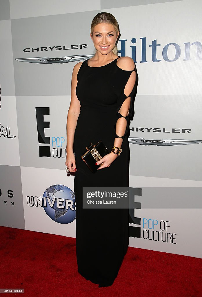 Television personality Stassi Schroeder attends the NBCUniversal 2015 Golden Globe Awards Party sponsored by Chrysler at The Beverly Hilton Hotel on January 11, 2015 in Beverly Hills, California.