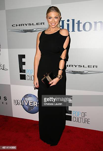 Television personality Stassi Schroeder attends the NBCUniversal 2015 Golden Globe Awards Party sponsored by Chrysler at The Beverly Hilton Hotel on...