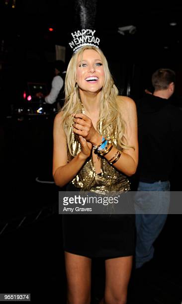 COVERAGE*** Television personality Stephanie Pratt dances at the 2nd annual New Years Eve celebration at Beso on December 31 2009 in Hollywood...
