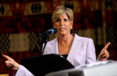 Television personality Suze Orman speaks at the second annual Global Summit for a Better Tomorrow presented by UNIFEM in partnership with AVON in...