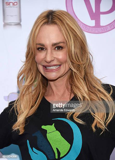 Television personality Taylor Armstrong attends the StopYulinForever March to End Dog Cruelty in Yulin China at MaCarthur Park Recreation Center on...