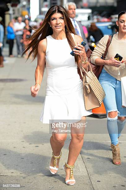 Television personality Teresa Giudice walks in Midtown Manhattan on June 29 2016 in New York City